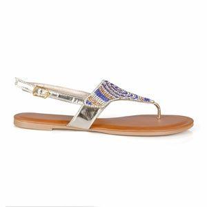 79baab671feef Hotsoles Shoes - Tiger Multi-Color Rhinestone Women s Thong Sandals